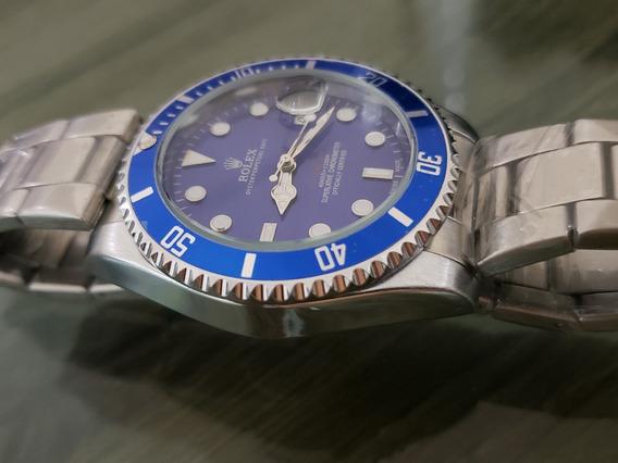 Relógio Submariner Masculino Preto Misto Pronta Entrega