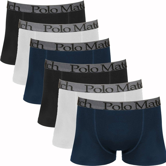 Kit Com 6 Cuecas Boxer De Cotton - Polo Match