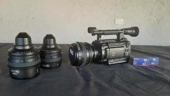 Câmera Pmw F3 Sony Xdcam Com Lentes Pl Ñ Blackmagic Kit