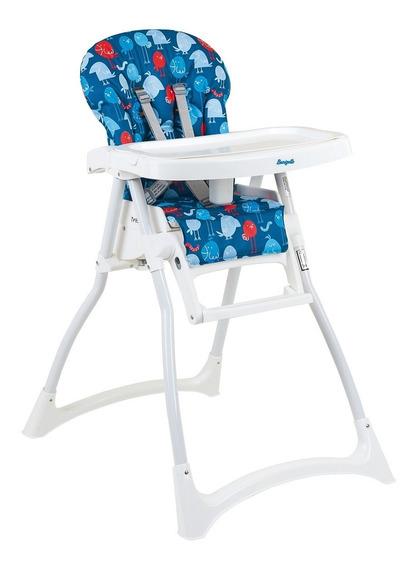 Cadeira Cadeirão Refeição Merenda Passarinhos Azul Burigotto