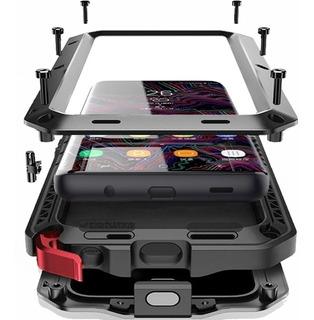 Capa Case Galaxy Note 8 9 S10 S9 S8 Plus Anti Shock Armadura Prova Choque Impacto Queda Metal Blindada