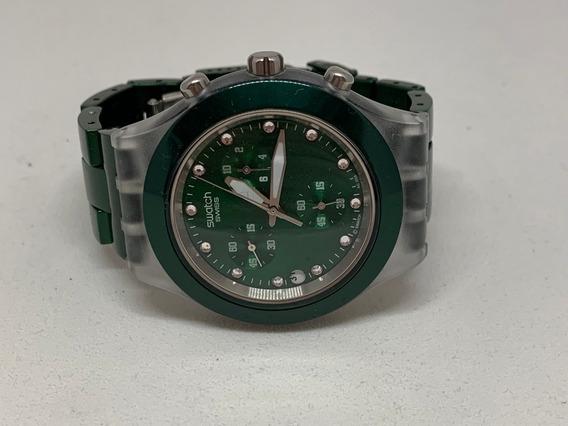 Relógio Swatch Diaphane Verde Original- C/bateria(f)
