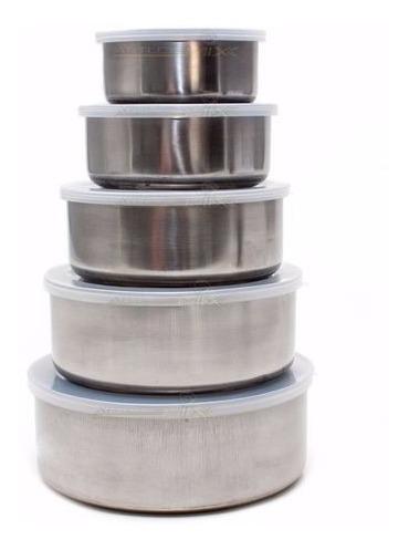 Unicasa Conjunto Pote Inox 4 Pçs