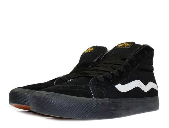 Tênis Mad Rats Hi Top Todo Preto Original Cano Alto Sneakers