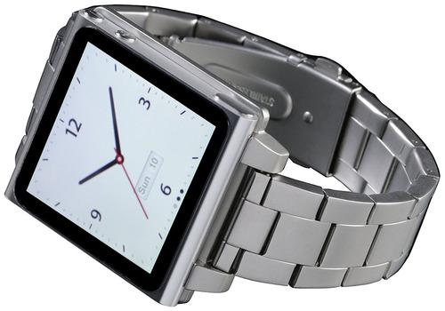 Correa Hex Tipo Reloj Para Apple Ipod Nano 6g Plateado Mercado Libre