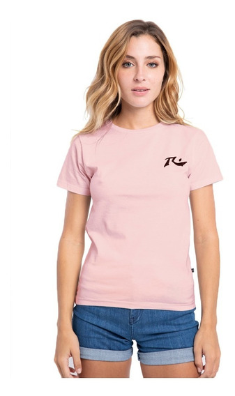 Remera Mujer Rusty Competition Rosa