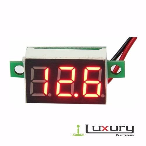 Mini Voltímetro Digital Alimentación 3.5-30volts Rojo X12pcs