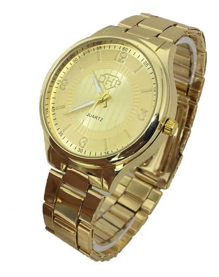 Relógio Feminino Dhp Prova Dágua Lançamento Social Luxo