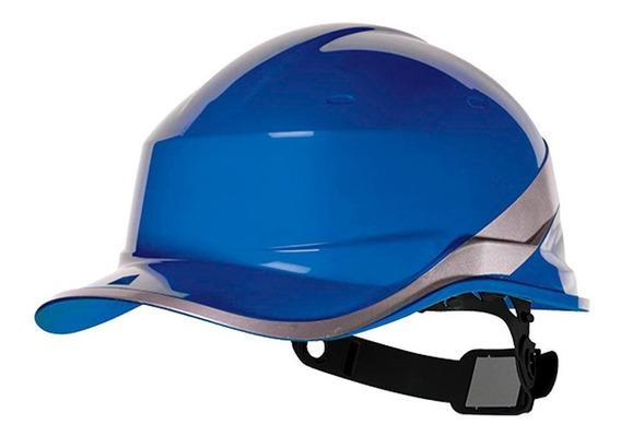 Capacete Com Aba Frontal Azul Fluorescente Delta Plus