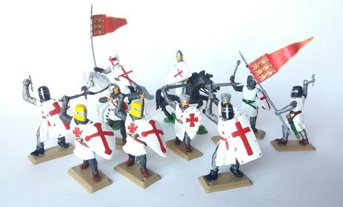 Soldados De Plástico Medievales-cruzados-templários X 11
