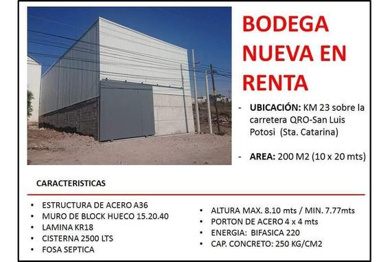 Bodega Nueva En Renta 200 Mts