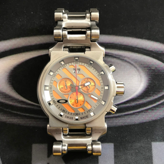 Relogio Oakley Hollow Point Orange Titanium Sku:10-047
