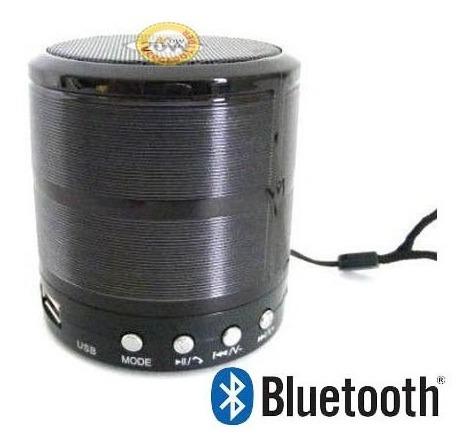 Mini Caixa Som Bluetooth Radio Fm Microsd Usbl Sp P2 Bateria