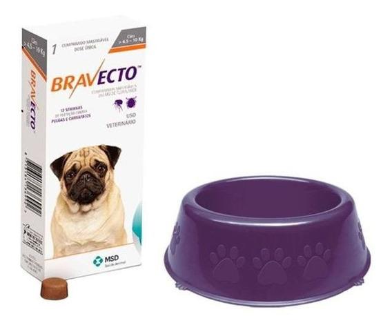 Antipulgas Bravecto Cães De 4,5 A 10 Kg + Comedouro