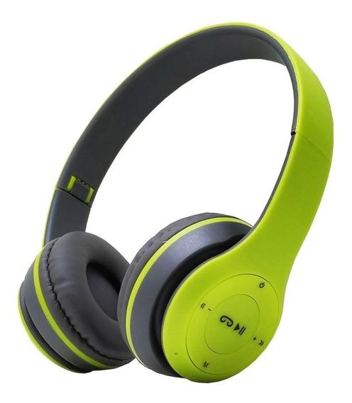 Fone Ouvido S Fio Bluetooth Chamadas Sd Fm Mp3 Usb P2 Hd112