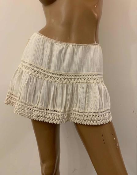Pollera Minifalda Crema - Tabatha Xs