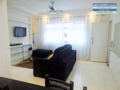 Enseada, Guarujá - Excelente Apto Reformado, 2 Amplos Dorms (sendo 1 Suite), Mobiliado. - Ap0183