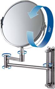 Espelho De Aumento Dupla Face Maquiagem Beleza 8482 Mor