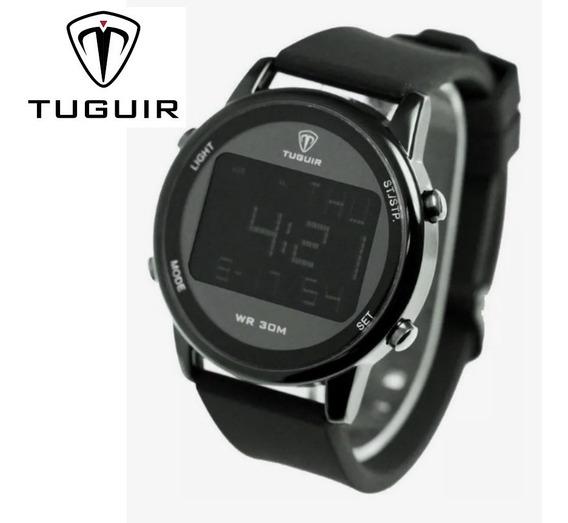 Relógio Digital Preto Original Luxo Barato Slim Top Promoção