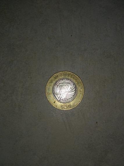 Moneda De 20 Pesos Fuerza Aérea Mexicana 100 Años 2015