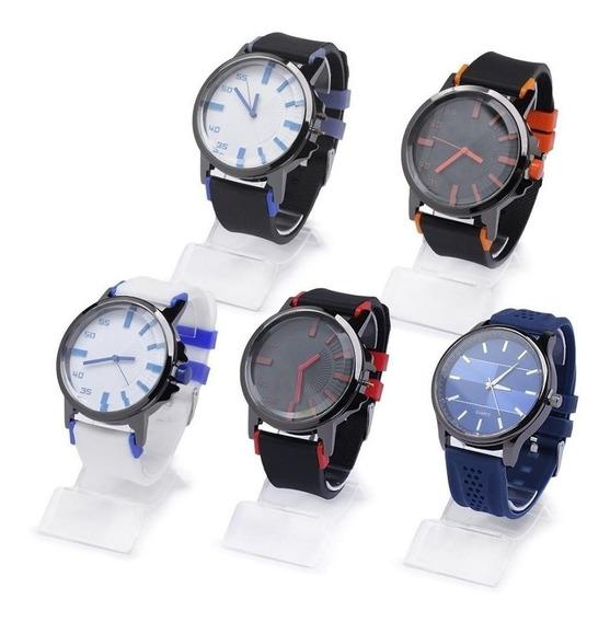 Promoção 2 Relógios Design Social Executivo Masculino Novo