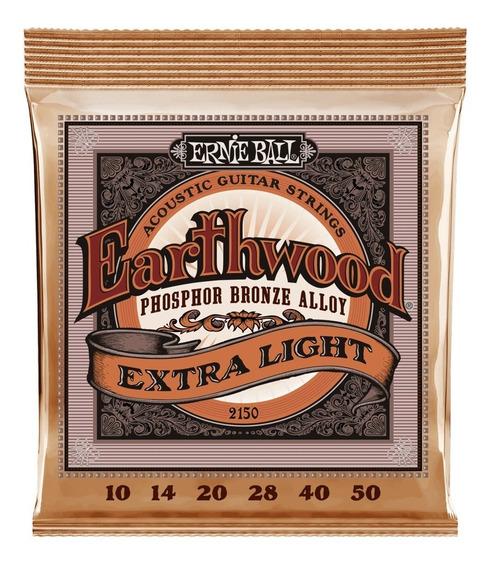 Encordoamento Ernie Ball Earthwood Phosphor Violão Aço 010