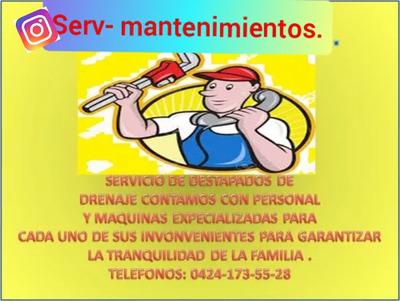 Plomero.destapados De Cañeria ,servicio De 24hrs Al Dia