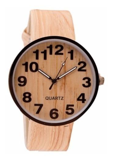 Relógio Quartz Cor Madeira