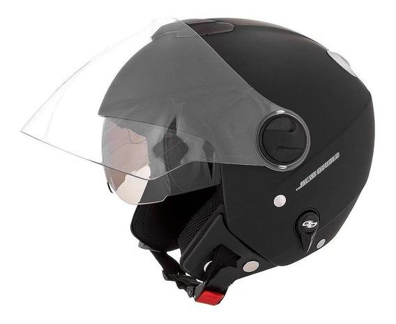 Capacete para moto aberto Pro Tork New Atomic Solid preto-fosco tamanho 58