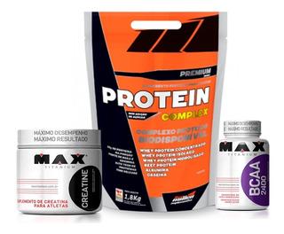 Whey Protein Complex 1800gr + Creatina + Bcaa + Coqueteleira