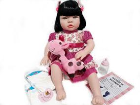 Bebê Reborn Real Verdade Mais Barata Menina Chupeta + Itens