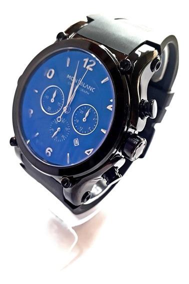 Relógio Masculino Mont Blanc Quartzo Cronos 100% Funcionais