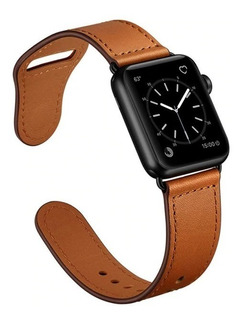 Pulseira Couro Legitimo Para Apple Watch 38/40mm 42/44mm