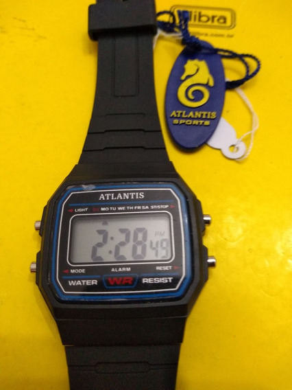 Relógio Digital Atlantis Tipo Casio 50 Metros