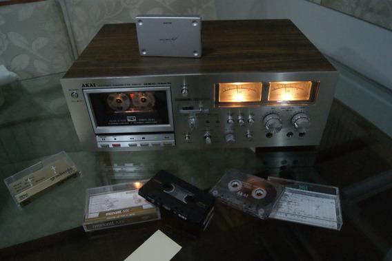Tape Deck Akai Gxc-750d 3 Cabeças Em Ótimo Estado