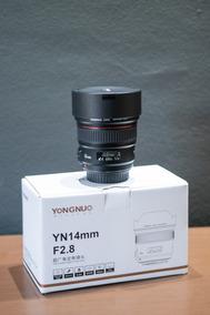 Lente Yongnuo Yn 14mm F / 2.8 Para Canon Ef