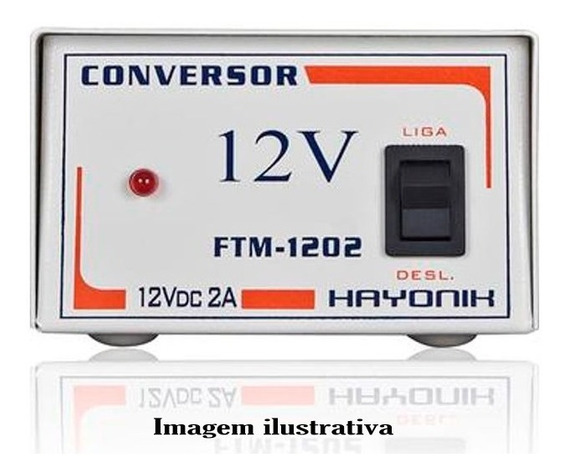 Conversor Ftm-1202 Chaveada 12v Dc 2a Hayonik - Fonte 12v