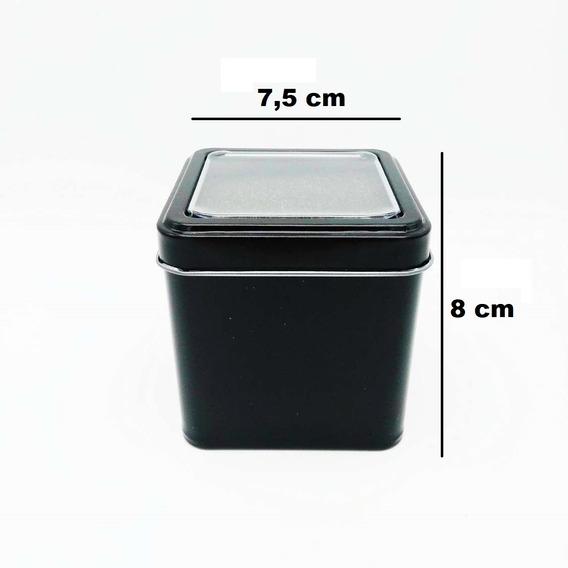 Caixinha Estojo Caixa Embalagem Relógio Lata 32 Unidades Nota Fiscal