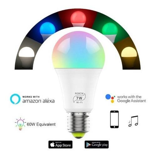 Lâmpada Led Bulbo Wifi Casa Inteligente Alexa E Google Home