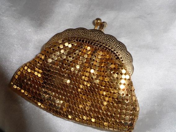 Lindo,elegante Porta Níqueis Banho Ouro,frança,déc60