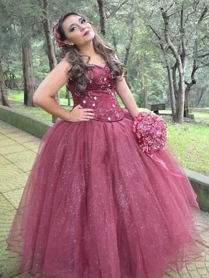 Vestidos De 15 Años Color Vino Ropa Bolsas Y Calzado En