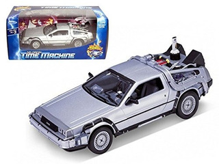 Welly 1/24 Scale Diecast Metal Delorean Time Machine !