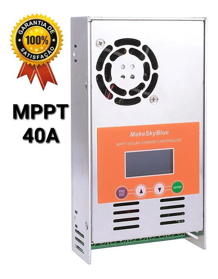 Controlador De Carga Solar Mppt 40a Makeskyblue V118