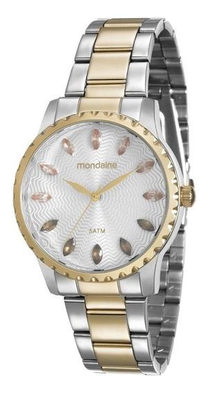 Relógio Mondaine Feminino Prata Doura 99170lpmvbe3 Analógico