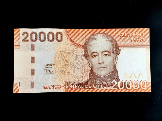 Cédula Chile - 20000 Pesos - 2009 - Escassa
