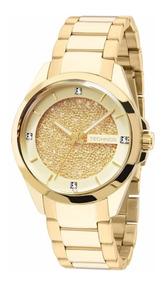 Relógio Technos Feminino Dourado 203aaa/4x Elegance Cristal