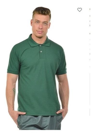 4 Camisas Polo Piquet Masculina 27252 Algodão Confortável