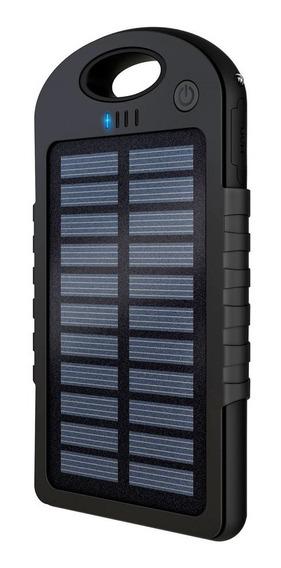 Power Bank Solar Con Lámpara Doble Usbrecargable Mah Powsol Full