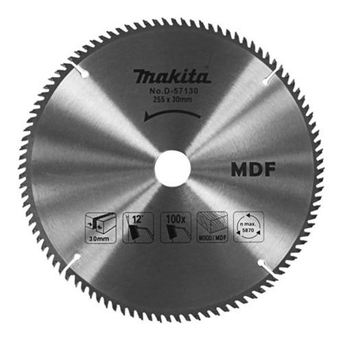 Imagen 1 de 6 de Hoja Sierra Circular Makita 10 PuLG 255mm 100 D Melamina Mdf