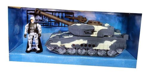 Tanque Militar Con Luz Y Sonidos Varios Mas Soldado.